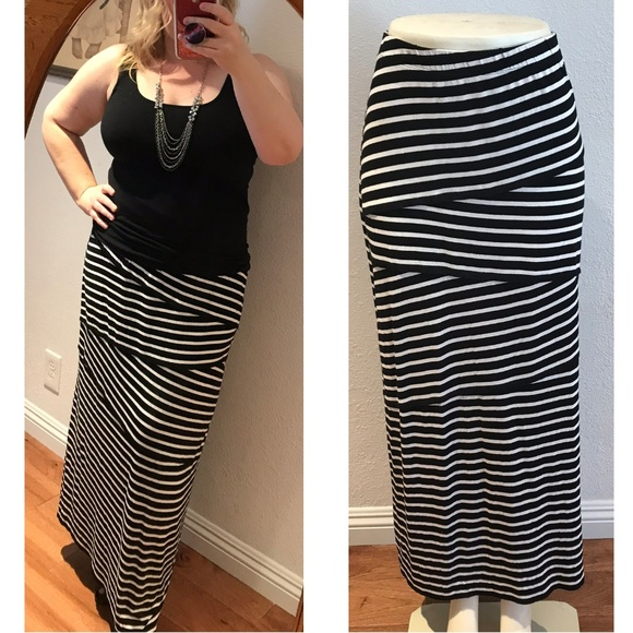 8e3553d4ea1d Chico's Dresses & Skirts - Chico's maxi skirt jersey knit STriped long full